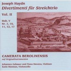 Haydn Camerata Berolinensis String Trio vol 2